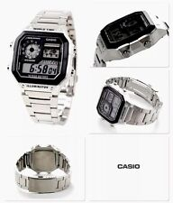 New Casio Mens Chrono,World Time Alarm  Lcd Watch Light Weight Illuminator (p65)