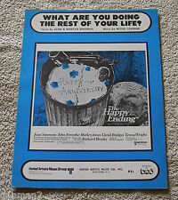 What Are You Doing The Rest Of Your Life 1969 Sheet Music Jean Simmons Bob Darin
