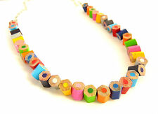 Handmade Pencil Crayon Necklace, Fair Trade, Recycled Jewellery, Made in India