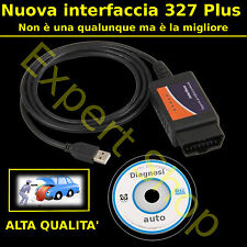 Interfaccia cavo USB DIAGNOSI AUTO OBD2 MULTIMARCA CAN-BUS alfa bmw COMPUTER PC