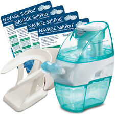 NAVAGE INTERNATIONAL STARTER BUNDLE: Nose Cleaner, 140 SaltPods, CountertopCaddy