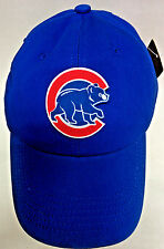Chicago Cubs Heat Applied Applique on ROYAL SLOUCH cap hat! Adjustable! BUCKLE!