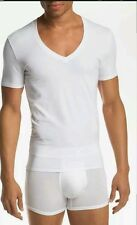 Tommy John Cotton / Spandex V- Neck T Shirt White Size M