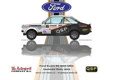 Greetings card QSP Ford Escort RS 1800 MK2 #22 van Haren Derks Version 2