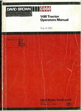 DAVID BROWN CASE TRACTOR 1490 OPERATORS MANUAL - INCLUDES HYDRA-SHIFT MODELS