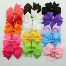 15 Mix Colors Kids Girl Baby Toddler DIY Grosgrain Bow Hair Accessories Ribbon
