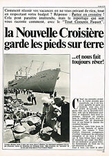 PUBLICITE  1981   CROISIERES  PAQUET  sur le MERMOZ  ( 3 pages)