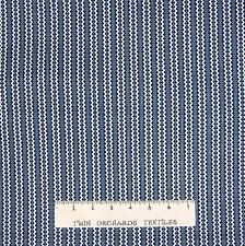 Calico Fabric - Kaye's Kitchen Ric-Rac Printed Stripe Blue - Benartex YARD