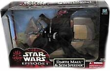 "Star Wars Episode 1 Sith Speeder Vehicle w 12"" Darth Maul Poseable Figure Hasbro"