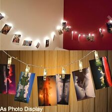 2.2M Warm White 20LED Clip LED Light Fairy Strings Home Picture Photo Wall Decor