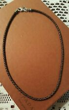 SILPADA BROWN BRAIDED LEATHER NECKLACE  N1714