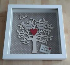 Personalised 40th Ruby Wedding Anniversary Box Frame Picture