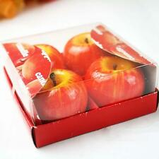 4Pcs Christmas Red Apple Shape Candles Wax Scented Candles Home Decor Greet Gift