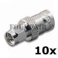 10 Pack SMA Male Plug to BNC Female RF Coax Antenna Adapter Converter Connector
