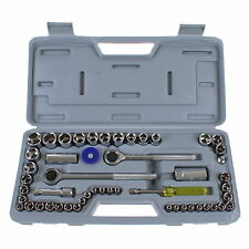 "52PC SOCKET SET IN CASE  1/4"" 3/8"" & 1/2"" KIT RATCHET DRIVE SOCKET SET TOOL DIY"