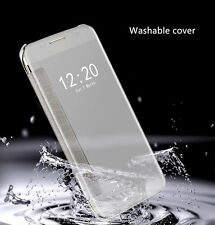 For iPhone & Samsung Luxury Smart Window View Flip Mirror Protective Case Cover