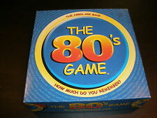 FUN! The 80's Game How Much Do You Remember? complete board game 2001