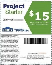 Two(2)Lowe's $15 OFF $50 Printable-Coupons -exp 3/31 - FAST Instant Delivery