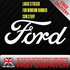FORD Sticker Badge for Sun strip Vinyl Decal Banner Sponsor Visor rs st zetec