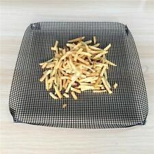 Oven Reusable Non-stick Mesh Chip Baking Tray Basket Grilling Pan Sheet Crisper