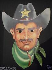 maschera maschere di carnevale anni 60 sceriffo rare carnival masks 60 years