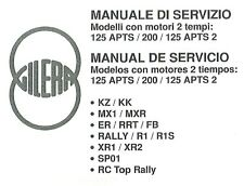 CD MANUALE OFFICINA GILERA KZ-KK-MX1-MXR-ER-RRT-FB-RALLY-R1-R1S-XR1-XR2-SP01-RC