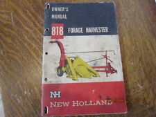 Vtg New Holland 818 Forage Harvester Owners Manual Book Agriculture Advertising