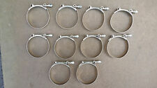 "10 x 3.25"" Stainless Steel T-Bolt Tbolt Clamps/Clamp Turbo Supercharge"