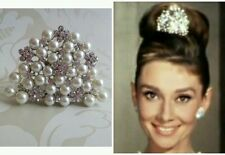 AUDREY HEPBURN STYLE REPLICA HAIR COMB TIARA BREAKFAST AT TIFFANYS NEW HANDMADE