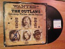 WILLIE NELSON signed WANTED! THE OUTLAWS 1976 Record / Album PSA / DNA Farm Aid