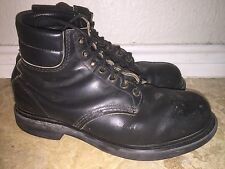 VINTAGE RED WING BOOTS MADE IN USA MEN 10 D  PT 91 BLACK Distressed