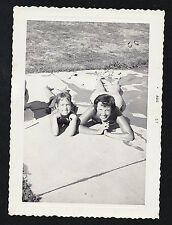 Antique Photograph Mom & Little Girl Laying on Ground Looking Up 1957