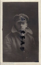 WW1 soldier Lancashire Fusiliers  Greatcoat and Crusher cap
