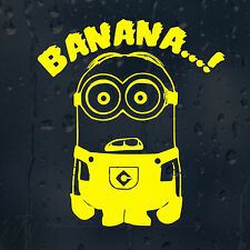 Minion Banana Car Decal Vinyl Sticker For Window Bumper