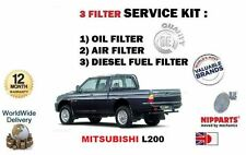 FOR MITSUBISHI L200 PICKUP 2.5D TD 1993-1996 OIL AIR FUEL FILTER SERVICE KIT