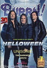 Burrn! Heavy Metal Magazine July 2015 Japan Helloween Opeth Unisonic Loudness