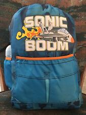 Sonic Boom Boys Backpack Sleeping Bag Combo With Water Bottle
