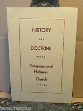 History and Doctrine of the Congregational Holiness Church B L Cox~Pentecostal