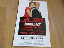 DOUBLE ACT 1993 Jan Harvey & Yardley PETERBOROUGH Key Theatre Original Poster