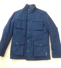 BNWT Men's Ben Sherman Staples Melton Field Jacket MF00261 in navy. Size XS.