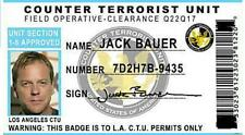 JACK BAUER  I.D CARD  LAMINATED
