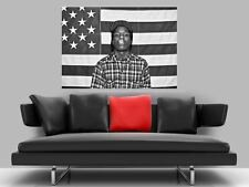 "ASAP ROCKY BORDERLESS MOSAIC TILE WALL POSTER 35"" x 25"" HIP HOP RAP"