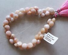 """8"""" Strand A Grade Peruvian Pink Opal Gemstone Faceted Onion Briolette Beads"""