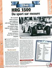 HRG 1500 Sport 4 Cyl. Singer 1946 UK England Car Auto Retro FICHE FRANCE