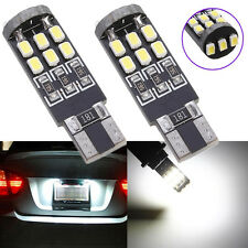 2x Bombilla T10 W5W 15 LED 3020 SMD Canbus ERROR FREE Xenon Blanco Number Lámp