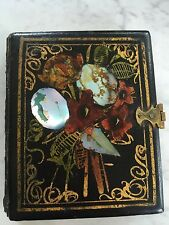 Antique HP Mother of Pearl Inlaid Daguerreotype MOTHER CHILD Holder Case BOOK