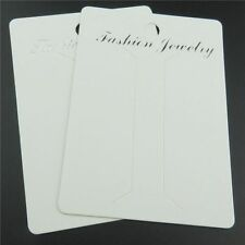 50X 88mm White Paper Brooch Hair Clip Hairpin Fashion Jewelry Display Hang Cards