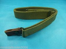 Green NcStar SKS Canvas Rifle Sling With Leather Tab New Production