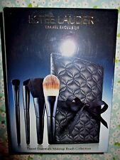 Estee Lauder 5 pc Makeup Brush Collection Set with Cosmetic Bag—Sealed
