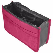 Hot Pink Travel Storage Case Zipper Organizer Hand Bag Makeup Cosmetic Toiletry
